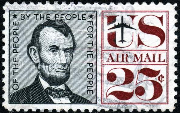 http://www.dreamstime.com/royalty-free-stock-images-vintage-lincoln-usa-25c-stamp-image3480329
