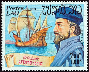 39531907-laos-circa-1983-un-sello-impreso-en-laos-desde-la-quot-exploradores-y-sus-buques-quot-cuesti-n-muest